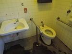 初雁球場駐車場付近多目的トイレ(本丸御殿付近)
